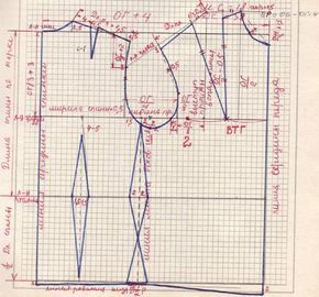 Снятие мерок. Построение основы выкройки блузы. Фасоны, чертеж и крой блуз