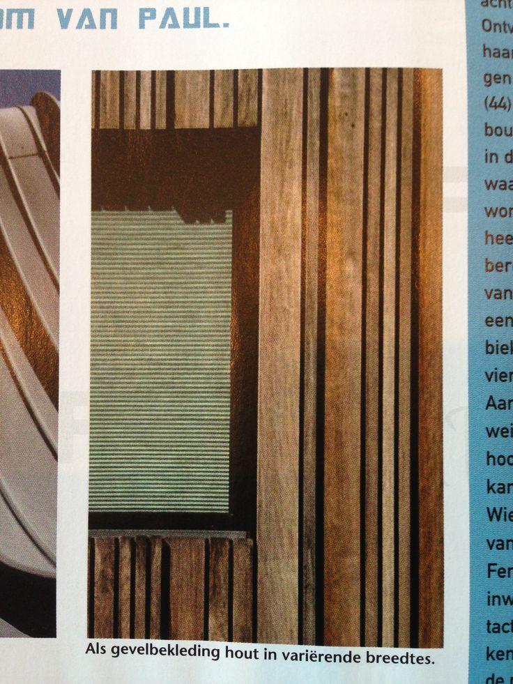 Voorbeeld houtenbekleding