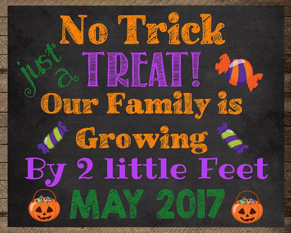 fall pregnancy announcement baby 2 announcement, fall pregnancy announcement, baby #2 announcement, baby 2, pregnancy reveal, halloween pregnancy announcement, no trick, fall chalkboard, halloween pregnancy announcement, halloween pregnancy chalkboard sign, pregnancy photo prop, maternity photo prop