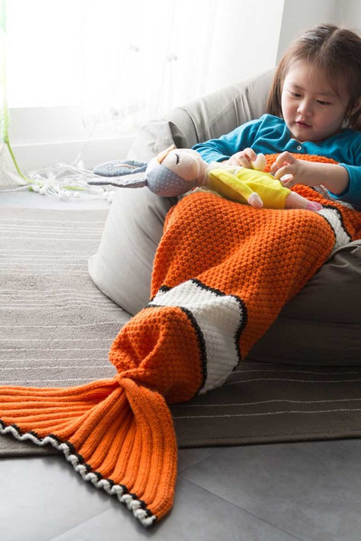 ELLADY Clown Fishtail Blanket For Kids