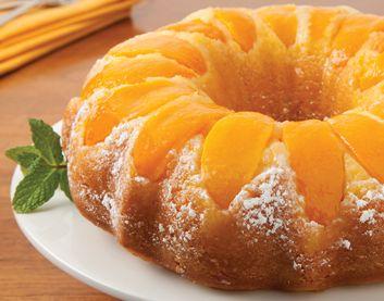 Double Peach Pound Cake