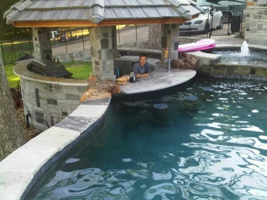swim up bar... I'm going to need this in my dream house!