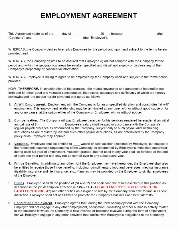 Employment Contracts Template Free In 2020 Contract Template