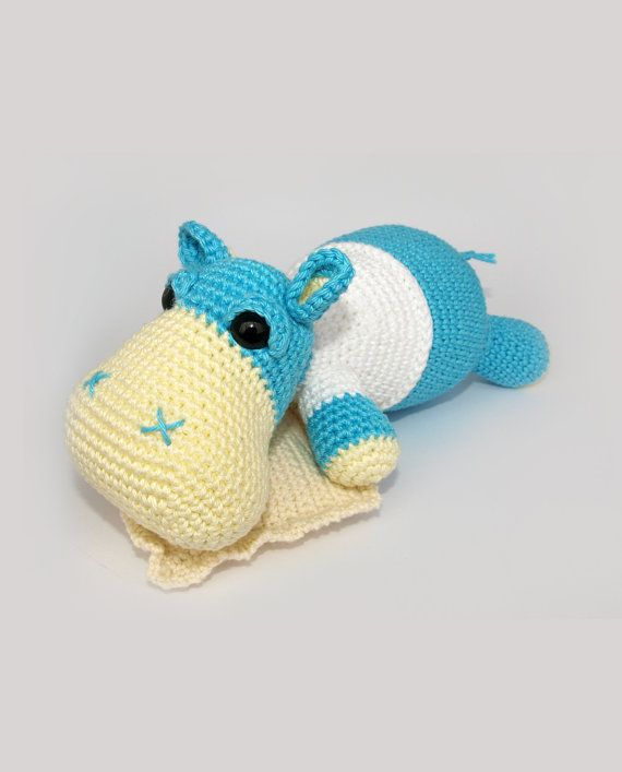 Hippo Amigurumi Toy PATTERN by mojeamigurumi on Etsy