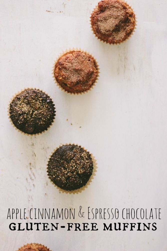 Apple Cinnamon & Espresso Chocolate Gluten-Free Muffins | The Vanilla ...