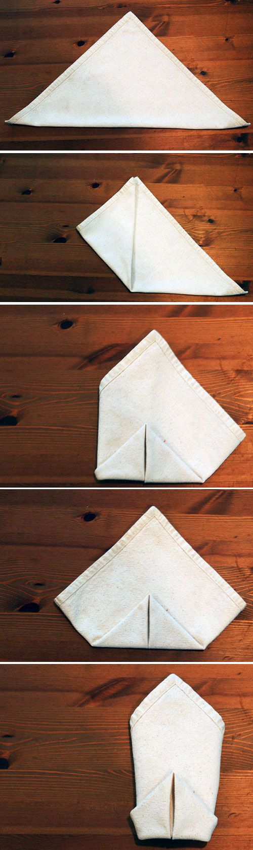 The Double Diamond | 28 Creative Napkin-Folding Techniques