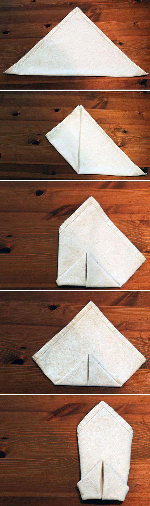 The Double Diamond | 28 Creative Napkin-Folding Techniques