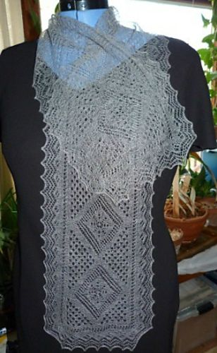 Ravelry: Four seasons: The Winter. Orenburg scarf pattern by Russian Lily