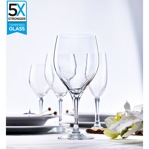 Elytium Gold Rodio Tempered Wine Glasses (Set of 6) | Kitchen Junky | South Africa