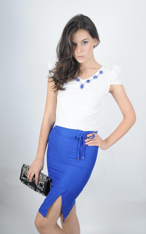 Jupe Bleu Avec