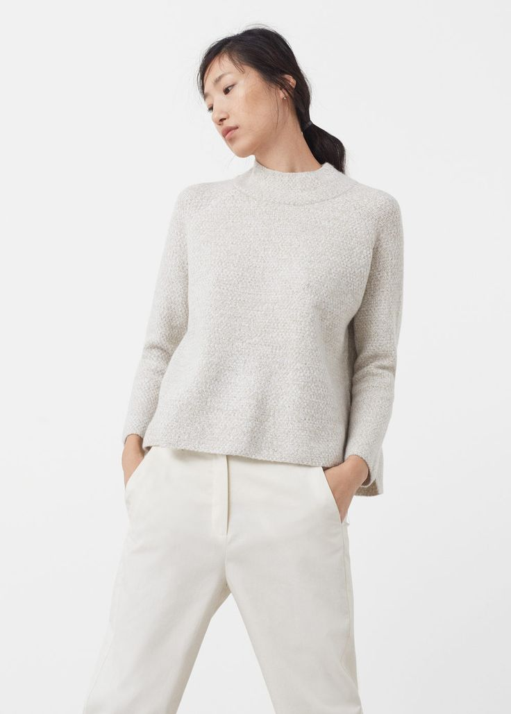 Funnel neck sweater | MANGO