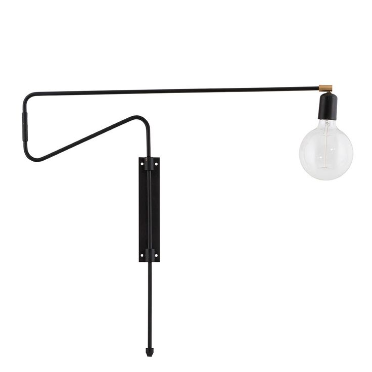 Swing+Vegglampe+70cm,+Sort,+House+Doctor