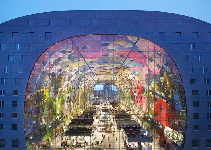 MVRDV's Markthal Rotterdam photographed by Hufton + Crow.