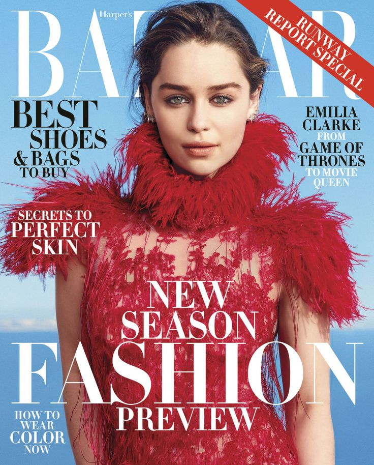 Emilia Clarke Is BAZAAR's June/July Cover Girl - Emilia Clarke on Her Proposed Threesome with Channing Tatum, Terminator 1.0, and Swearing on Chanel
