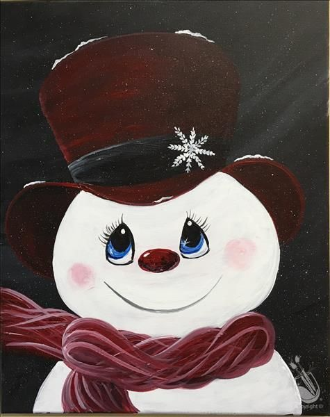 Image result for snowman acrylic paintings