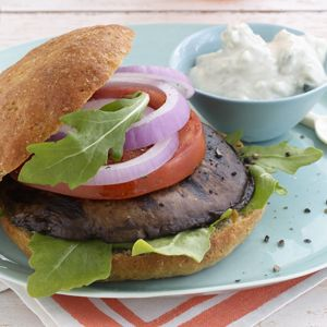 Atkins Portobello Burgers with Blue Cheese Sauce...... Stay fit and healthy with thriveweightloss.com