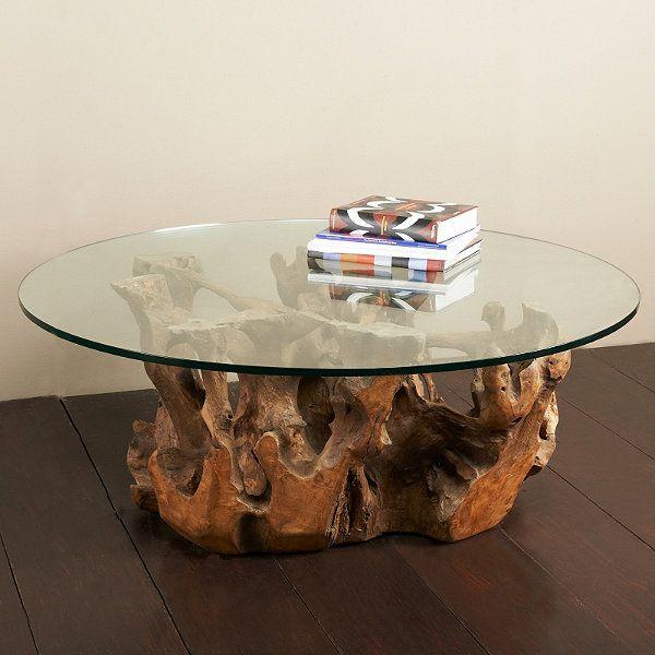 Tambora Teak Root Table   Frontgate   Coffee table design ...