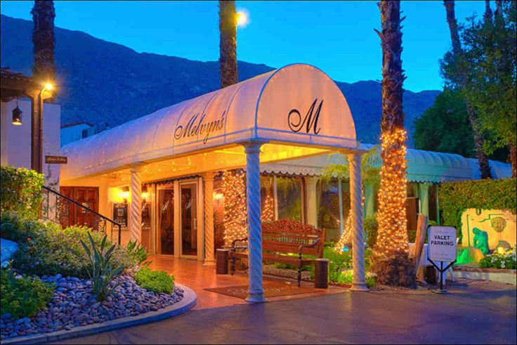 Melvyn's Restaurant located at Ingleside Inn, Palm Springs, CA