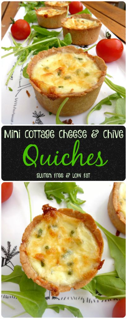 Mini quiches with cottage cheese and chives (gluten free)