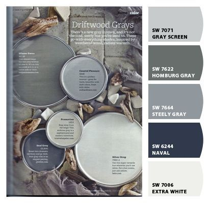 Chip It! by Sherwin-Williams – Navycakes84 Steely Gray for the walls in Kitchen Naval for Hallway
