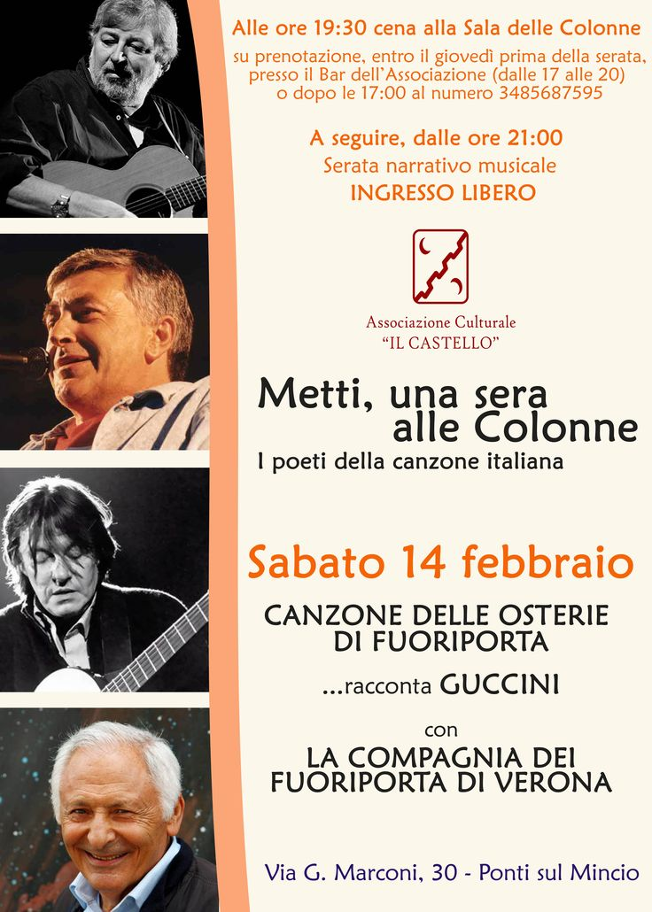 Metti, una sera alle Colonne - I poeti della canzone Italiana #FrancesoGuccini #14Febbraio