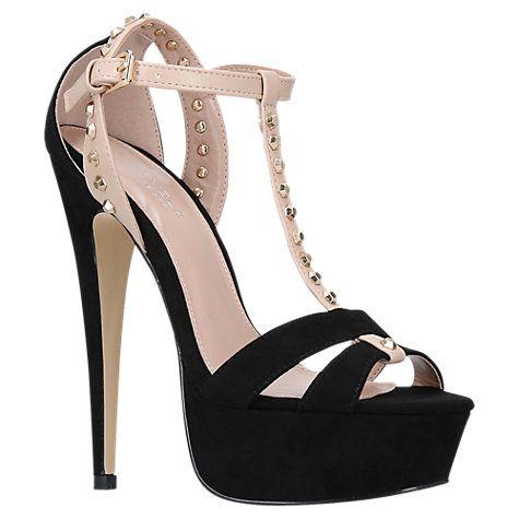 Buy Carvela Krystal Platform Stiletto Heeled Sandals, Black Online at johnlewis.com