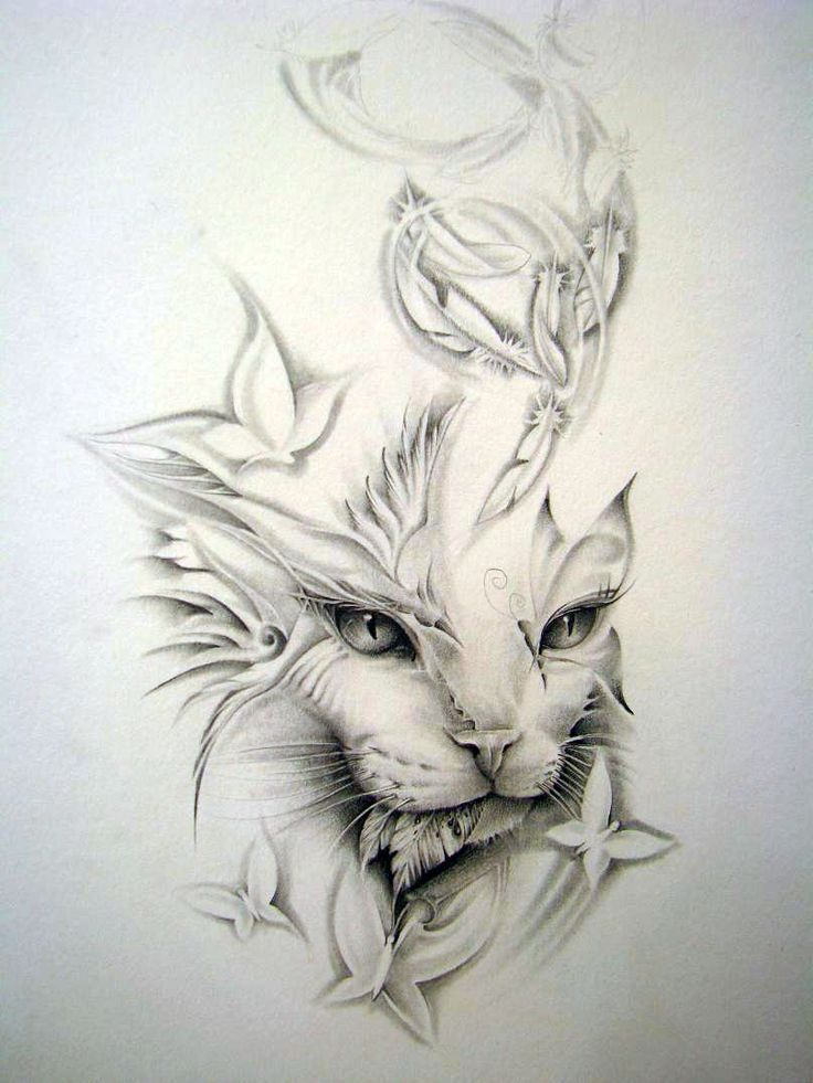 Geometric Tattoo – cat tattoo – Buscar con Google