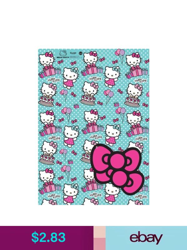 hello kitty wrapping paper Hello kitty found in: firefly kids' licensed character travel dental kits, voila large licensed character gift bags, licensed girls' 96-pg jumbo activity and coloring books, hello kitty travel toothbrushes with caps, licensed.
