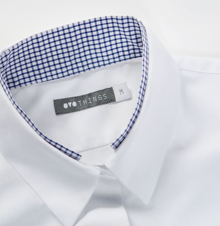 OVO Things Oxford Shirt with a unique collar detail as just a hint of another collar.