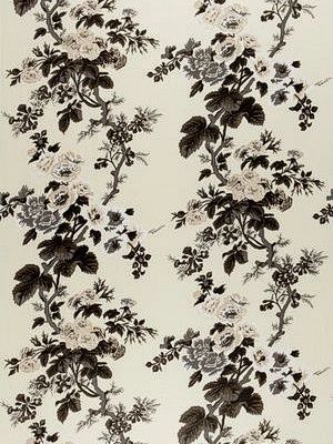DecoratorsBest - Detail1 - Sch 174450 - Pyne Hollyhock Print - Charcoal - Fabrics - - DecoratorsBest: