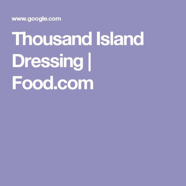 Thousand Island Dressing | Food.com