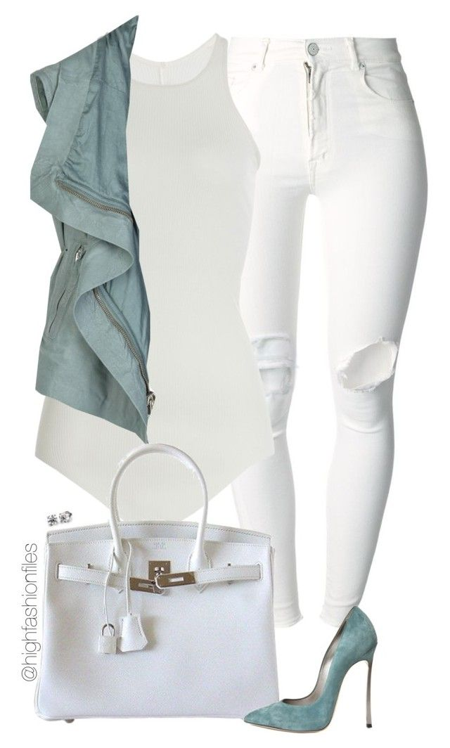 """""""Pastel"""" by highfashionfiles ❤ liked on Polyvore featuring (+) PEOPLE, Rick Owens, Hermès and Casadei"""