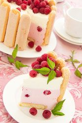 Charlotte � la chantilly framboises citron.  I must have this instead of another birthday cake.