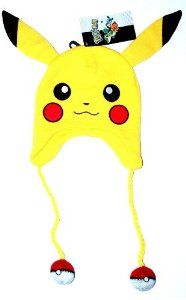 Amazon.com: Pokemon - Pikachu Big Face Laplander Beanie Size ONE SIZE: Toys & Games