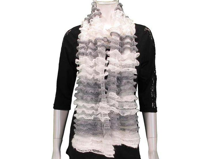 White/GreyThis Ruffled Tube Scarf can be worn as a shorty infinity, or as a long scarf. Ruffled layers provide extra softness and lightness to the scarf, with beautiful colours to match any outfit! Available in Black, White/Grey, Pink, Coral, Red, Mint, Royal.