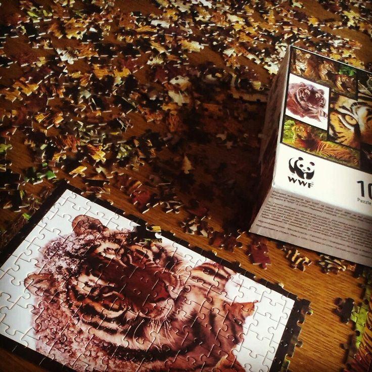 Weekend z puzzlami z tygryski,  WWF