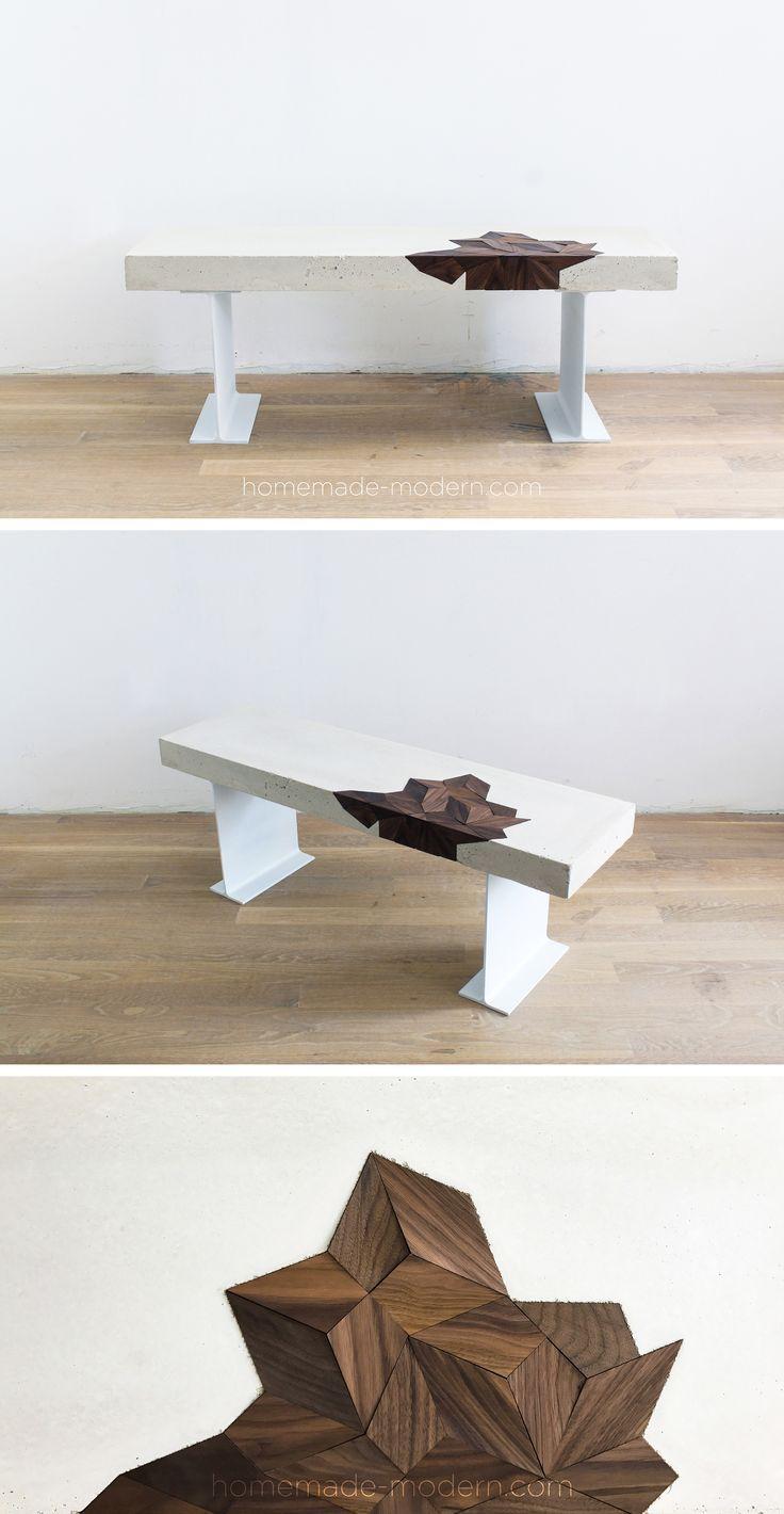 Spielen Sie Mit Texturen Durch Dieses Diy Betonbankprojekt Es Ist Mit Wa Betonbankprojekt Dieses Du Concrete Table Concrete Coffee Table Concrete Diy [ 1420 x 736 Pixel ]