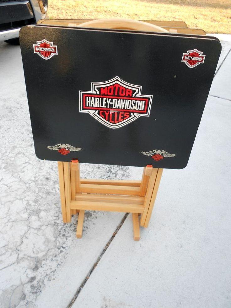 Harley Davidson folding snack tables