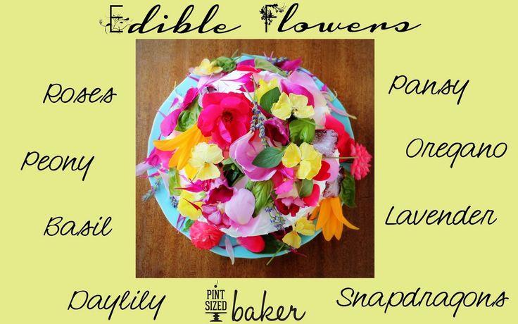 Pint Sized Baker: Edible Organic Flowers Cake #DigIn With Something Beautiful