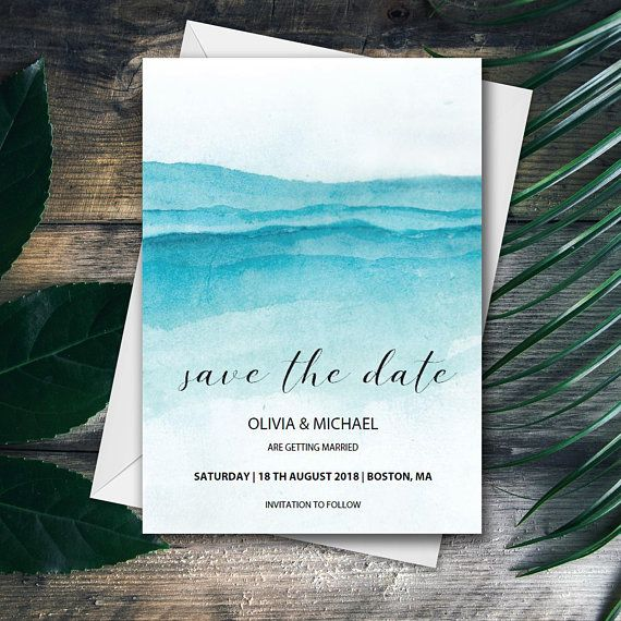 Beach Wedding Save The Date Template Printable Instant Download Editable Pdf Wedding Saving Wedding Save The Dates Save The Date Templates