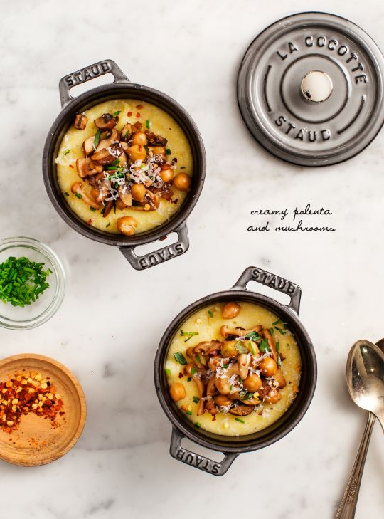 Creamy Polenta & Mushrooms