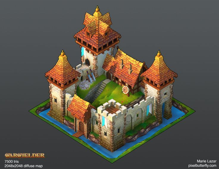 Warwielder Art Dump: hand-painted buildings ahead! - Polycount Forum: