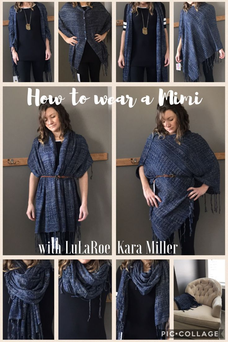 How to wear and style a LuLaRoe Mimi Blanket Scarf with ...