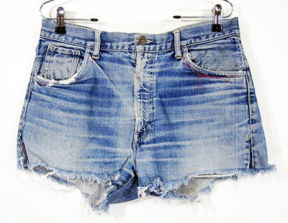 "Vintage Levi's ""Big E"" Denim Cut-Off Shorts W33 1960's"