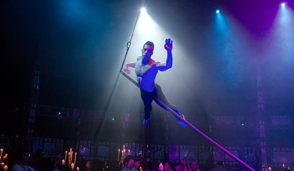 Chiselled perfection with a talent so immense you'll think he's come straight down from heaven. Multi-award winning Cirque du Solei performer Saulo Sarmiento performs his unique aerial pole act in #TheCelebration with a presence so intensely captivating, you won't want to look away, not even for a second.