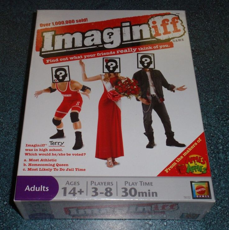 IMAGINIFF BOARD GAME from MATTEL FUN GAME FOR ADULTS - Brand New - GREAT GIFT!  #MATTEL