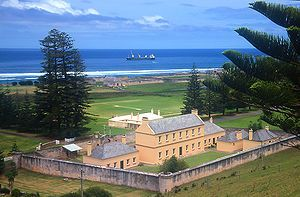Kingston is the capital of the Australian South Pacific Territory of Norfolk Island. This is the Legislative Assembly Chambers.