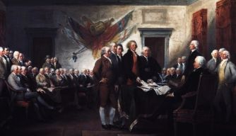 july 4, 1776, the continental congress, the declaration of independence, the american revolution  (historian's view)