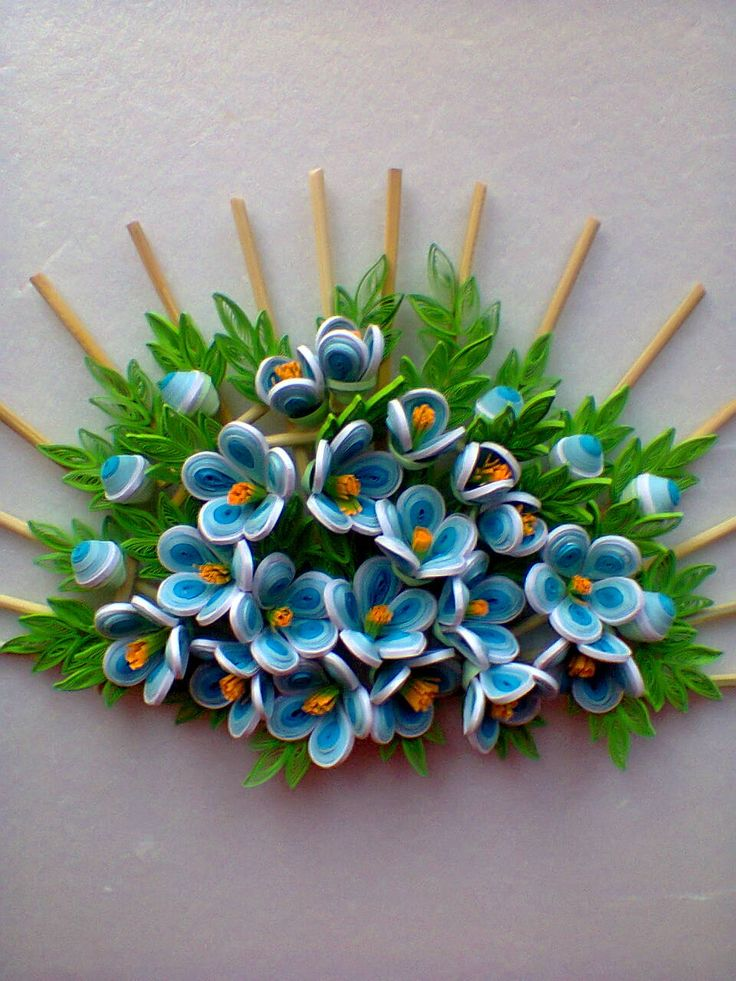 133 best quilling flower bouquet images on pinterest for Quilling paper craft