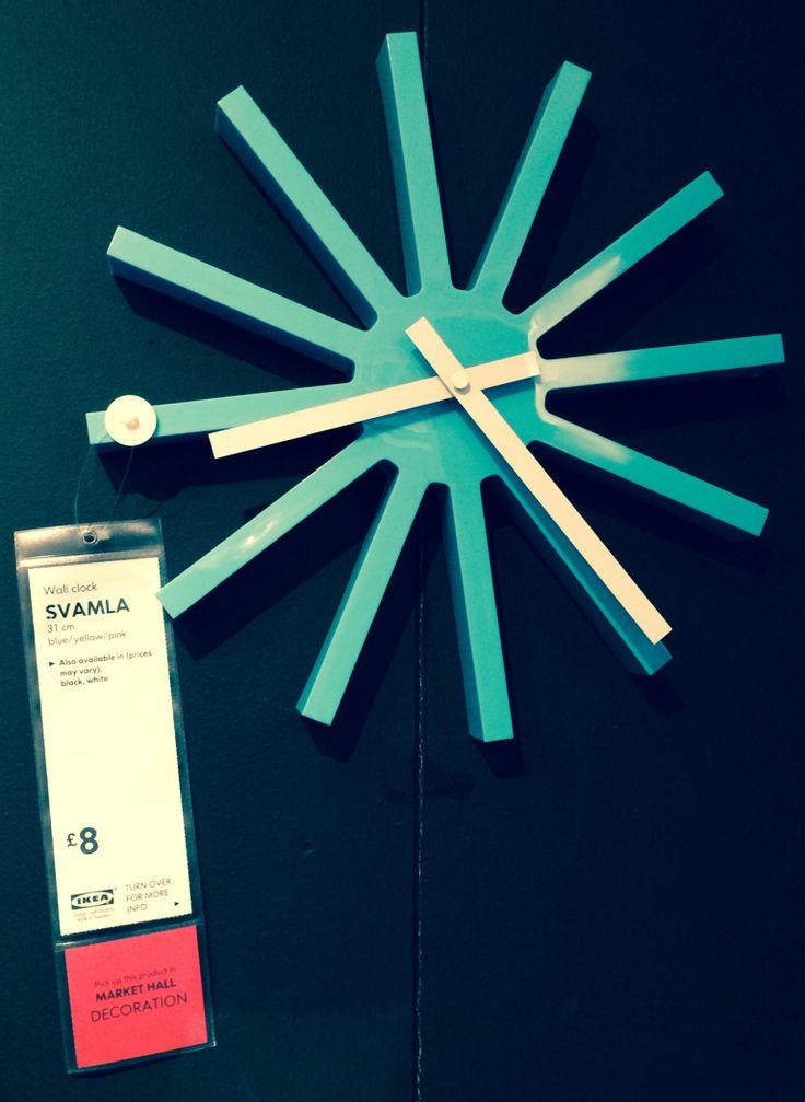 Svamla Wall Clock Ikea Connors Room Pinterest Wall